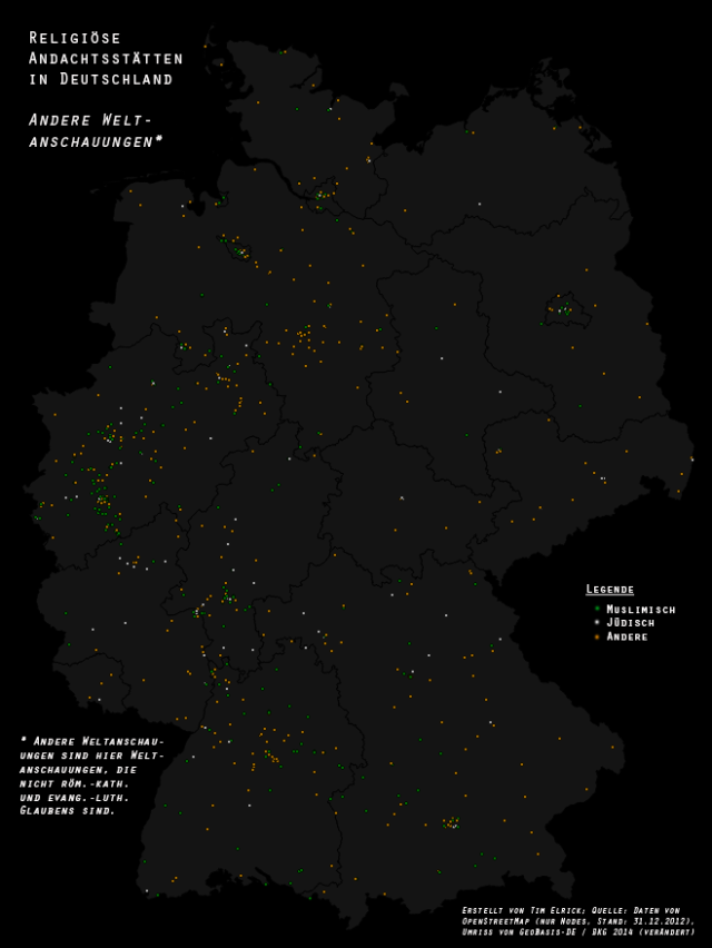Non-dominant religious places of worship  in Germany